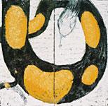 Riesensalamander, Öl auf Leinwand  180x180cm, 2003