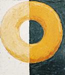 Schattenkreis, Öl auf Leinwand 100x115cm, 2003