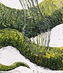 Zünglein, Öl auf Leinwand  100x115cm, 2004
