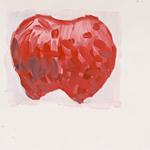 Herz, Acryl auf Papier 40x40cm, 2003/04