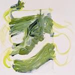 Wilde Schlange, Acryl auf Papier 40x40cm, 2003