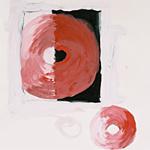 Schattenbilder, Acryl auf Papier 40x40cm, 2003
