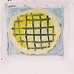 Gully, Acryl auf Papier  40x40cm, 2003