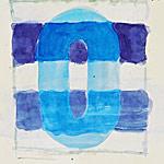 Schattenbild, Gouache auf Papier 40x40cm, 2003