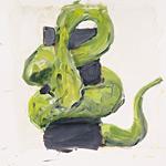 Schlange, Acryl auf Papier 40x40cm, 2003/04