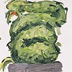 Gefährliche Schlange, Acryl auf Papier 40x40cm, 2003
