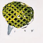 Ahnungslose Sprechblase, Acryl auf Papier  40x40cm, 2003