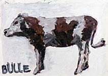 Bulle, Acryl auf Papier  70x50cm, 2004