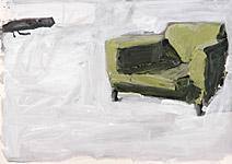 Heuschreckensangriff, Acryl auf Papier 70x50cm, 2004