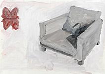 Schmetterlingsfreund, Acryl auf Papier 70x50cm, 2004