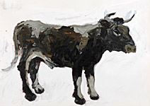 Böser Bulle, Acryl auf Papier  70x50cm, 2004