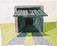 Garage, Acryl auf Papier 70x50cm, 2004
