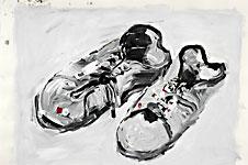 Des Malers, Acryl auf Papier 70x50cm, 2007