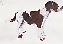 Eilhund, Acryl auf Papier 70x50cm, 2007