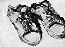 Malers Batschen 1, Acryl auf Papier 70x50cm, 2007