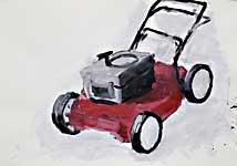 Motormäher1, Acryl auf Papier 100x70cm, 2008